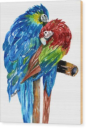 Birds Of Color Wood Print by Marilyn Barton
