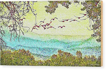 Birds Over Horizon - Boulder County Colorado Wood Print