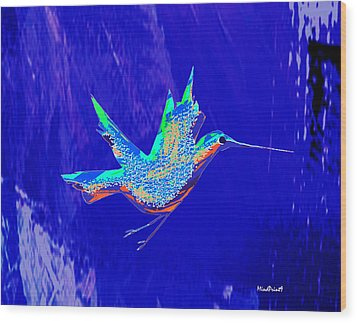 Bird Flight Wood Print by Asok Mukhopadhyay