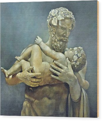 Birth Of Bacchus Wood Print by Geraldine Arata