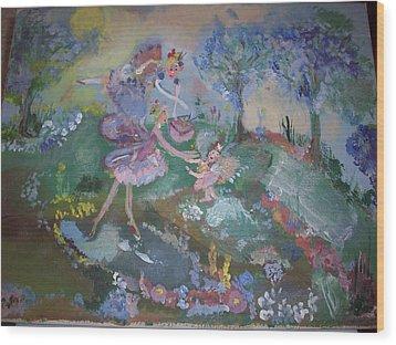 Birthday Fairy Wood Print by Judith Desrosiers