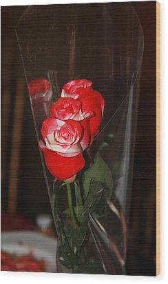 Wood Print featuring the photograph Birthday Roses by Vadim Levin