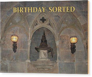 Birthday Sorted Wood Print
