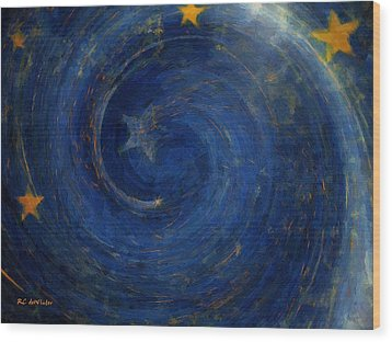 Birthed In Stars Wood Print