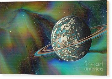 Birthing Planet Wood Print by Curtis Koontz