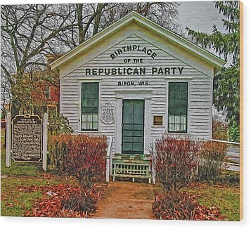 Birthplace Republican Party Wood Print