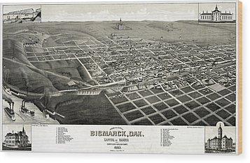 Bismarck, North Dakota, The Capital Wood Print by Everett