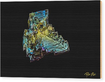 Wood Print featuring the photograph Bismuth Crystal by Rikk Flohr