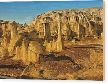 Bisti Badlands Fantasy Wood Print by Alan Vance Ley