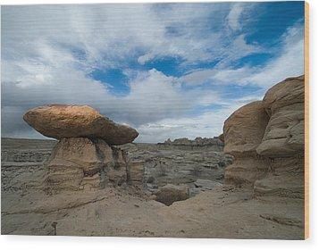 Bisti Fissure New Mexico Wood Print by Steve Gadomski