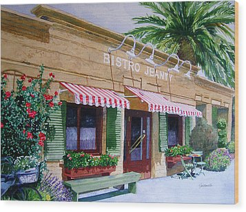 Bistro Jeanty Napa Valley  Wood Print by Gail Chandler