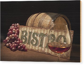Bistro Still Life II Wood Print by Tom Mc Nemar