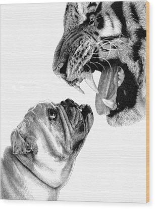 Bite Me Wood Print by Carole Raschella