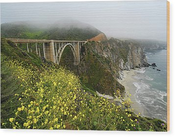 Bixby Bridge Wood Print by Harry Spitz
