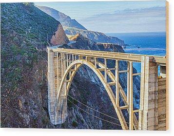 Bixby Bridge Wood Print by Joseph S Giacalone