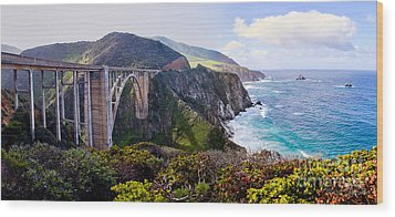 Bixby Bridge Wood Print