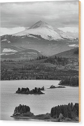 Wood Print featuring the photograph Black And White Breckenridge by Dan Sproul