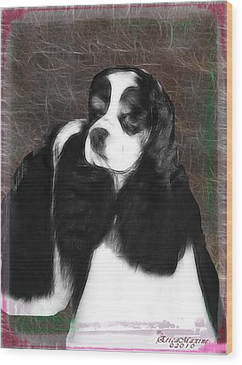 Black And White Cookie Wood Print by EricaMaxine  Price