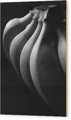 Black And White Image Of Banana Wood Print by By Ale_flamy