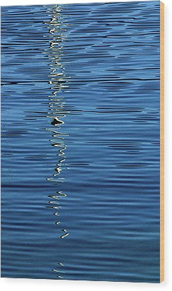 Wood Print featuring the photograph Black And White On Blue by Tom Vaughan