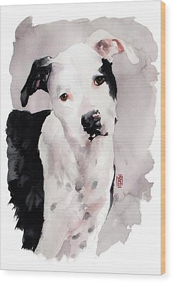 Black And White Pit Wood Print by Debra Jones
