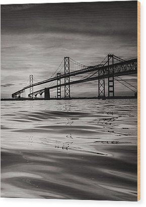 Black And White Reflections 2 Wood Print by Jennifer Casey
