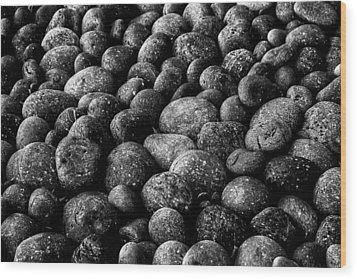Black And White Stones Two Wood Print by Kevin Blackburn