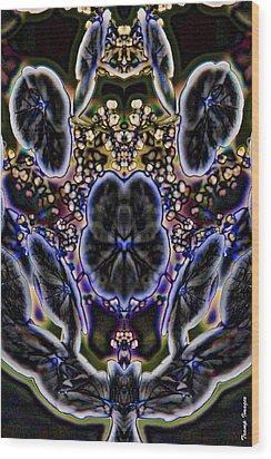 Black Angel Wood Print