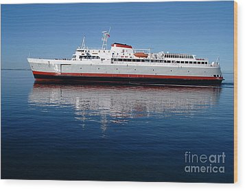 Wood Print featuring the photograph Black Ball Ferry by Larry Keahey