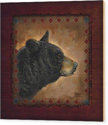 Black Bear Lodge Wood Print