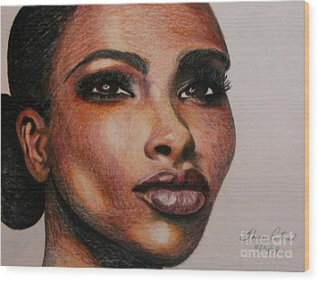 Black Beauty 1 Wood Print by Sheron Petrie