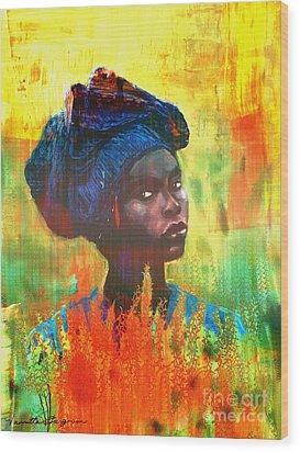 Black Beauty Wood Print by Vannetta Ferguson