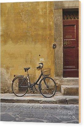 Black Bike Wood Print by Patricia Strand