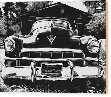 Black Cadillac Wood Print