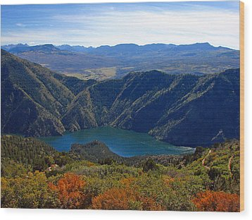 Black Canyon Of The Gunnison Wood Print