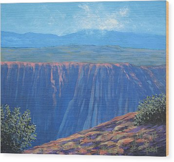 Black Canyon Of The Gunnison Wood Print by Gene Foust