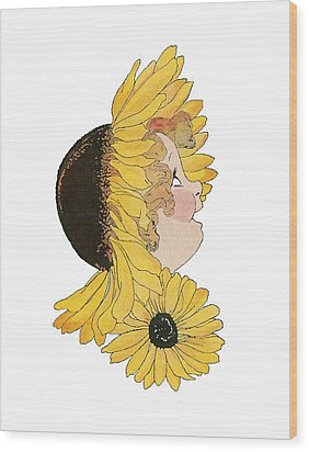 Black-eyed Susan Wood Print by Roger Mullenhour