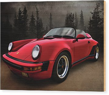 Black Forest - Red Speedster Wood Print by Douglas Pittman