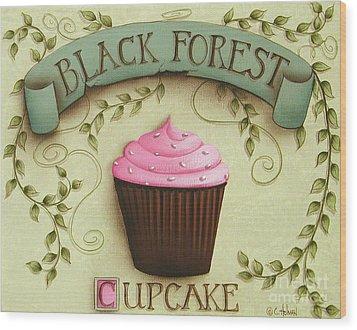 Black Forest Cupcake Wood Print by Catherine Holman