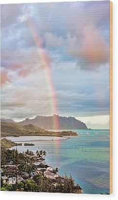 Black Friday Rainbow Wood Print by Dan McManus