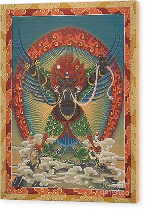 Black Garuda - Tsasum Tersar Wood Print