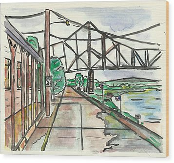 Black Hawk Bridge Wood Print by Matt Gaudian
