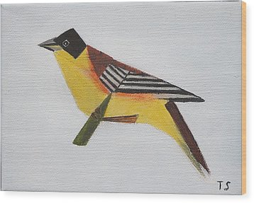 Black-headed Bunting Wood Print