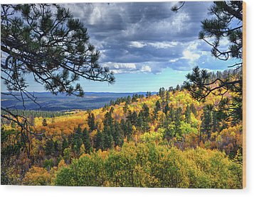 Black Hills Autumn Wood Print