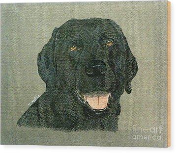 Black Labrador Retriever Wood Print by Terri Mills