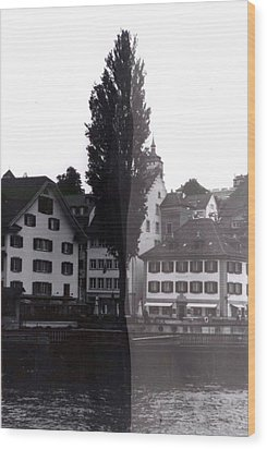 Black Lucerne Wood Print by Christian Eberli