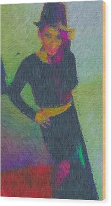 Black Magic Woman Wood Print by Mike La Muerte Giuliani