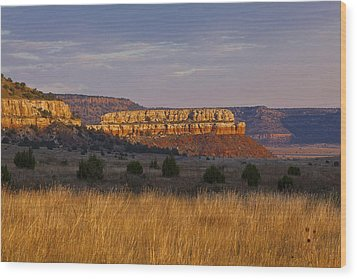 Black Mesa Sunrise Wood Print