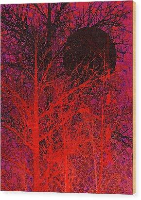 Black Moon Wood Print by Richard Rizzo