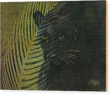 Black Panther Wood Print by Arline Wagner